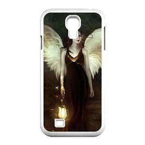 Jumphigh Angel Samsung Galaxy S4 Case Dark Angel Girl, [White]