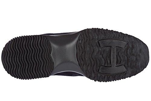 Chaussures Femmes Hogan Sneakers En Daim Interactive Allacciata Blu