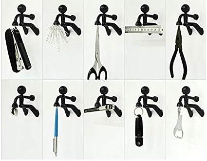 Gancho Para llaves Porta llaves magn/éticas Hombre magn/ético Gancho de llave Porta llaves de pared Imanes de nevera para cualquier superficie met/álica(1 PC,Negro)