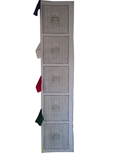 Tibetan Prayer Flags Vertical Prayer Flags From Nepal (White)
