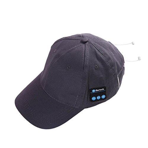 Price comparison product image 2018 Fashion Bluetooth Hat Outdoor Sport Baseball Cap Earphone Call Music Hats (Gray)