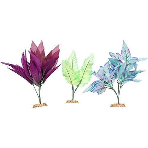 Imagitarium Midground Plant Multi-Pack Silk Aquarium Plants, Medium/Large, ()