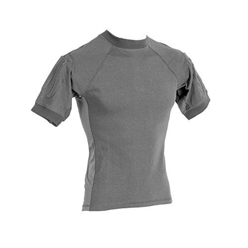 - VooDoo Tactical 01-9583014097 Combat Short Sleeve Shirt, Gray, XX-Large