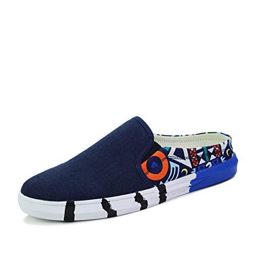 Kmjbs Drag Chaussures Pour Forty Moitié Denim Lazy summer Blanc Personnalité Respirabilité Homme one Faible Décontracté twYrCqw