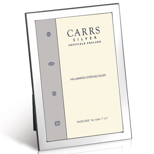 Carrs Contemporary Classic Flat Narrow Silver Photo Frame 6X4 Inch by Carr's