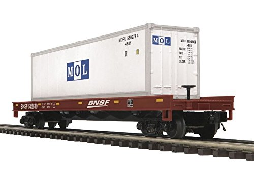 O Flat w/40' Container, BNSF