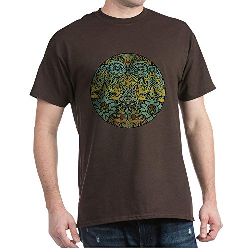 William Cotton Tapestry - CafePress Peacock and Dragon William Morris Tapestry Design 100% Cotton T-Shirt Brown