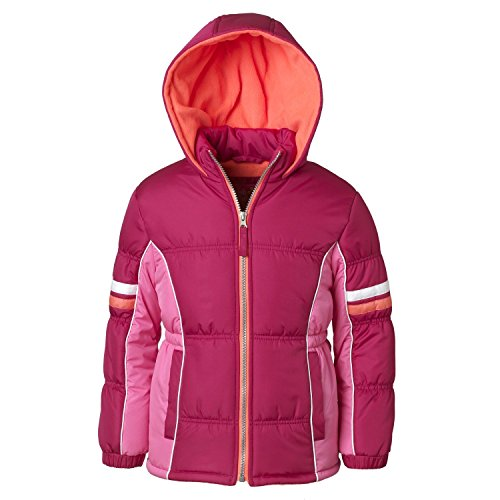 Pink Platinum Puffer Jacket for Girls, Babies & Toddlers with Colorblock Pattern by Pink Platinum