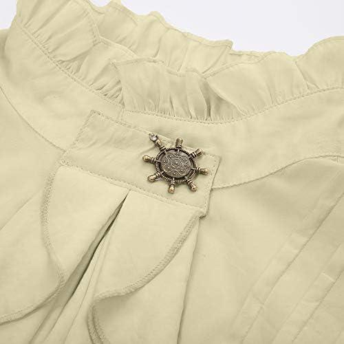 Manica lunga camicia con jabot Steampunk Camicia