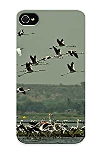 Goldenautumn Case Cover For Iphone 4/4s - Retailer Packaging Flamingo Migration Flock Flight Fly Wings Lakes Nature Landscapes Sky Protective Case