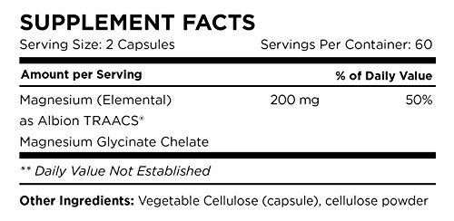 Amazon.com: Magnesio glycinate 200 mg | 100% puro, non ...