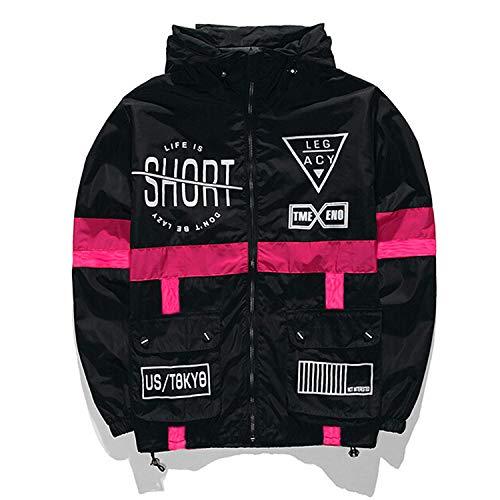 PERDONTOO Men's Lightweight Windbreaker Printed Hooded Jacket