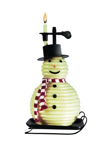 Candle by the Hour 100-Hour Snowman Candle, Eco-friendly Natural Beeswax with Cotton (Snowman Wax)