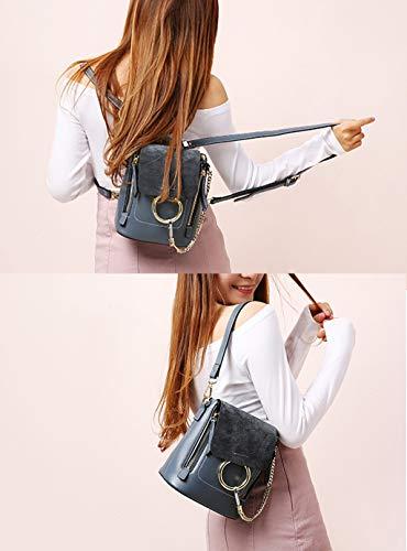 Sac Faux de Bandoulière Luxe Gris Sac à Womens SHELI Trendy Leather wSq01WZ