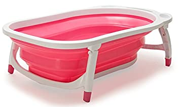 Amazon.com : Lil\' Jumbl Baby-to-Toddler Folding Bathtub | Sling ...