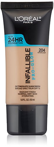 NEW - L'oreal-Infallible Pro-Glow - 24hr. Foundation # 204