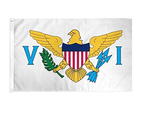 TrendyLuz Flags US Virgin Islands National Banner Flag 3x5 Feet