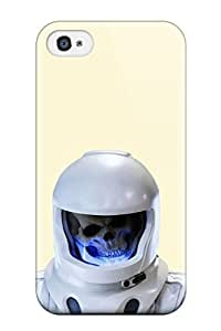Cute Tpu AnnaSanders Astronaut Sci Fi Dark Death Skull People Sci Fi Case Cover For Iphone 4/4s