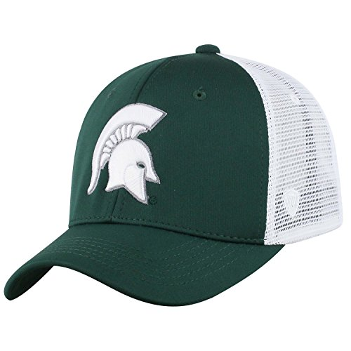 - Top of the World NCAA-Ranger Trucker Mesh-Adjustable Snapback Hat Cap (Michigan State Spartans-White, Adjustable)
