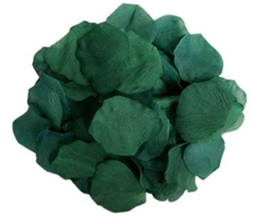1000Qingsun Rose Petals Artificial Flower Wedding Party Vase Decor Bridal Shower Favor Centerpieces Confetti (Deep Green)