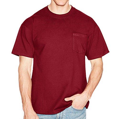 Cotton Adult Pocket T-shirt - Hanes Beefy-T Adult Pocket T-Shirt