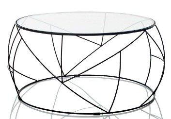Couchtisch Rund Gehartetes Glas Metall Amazon De Kuche Haushalt