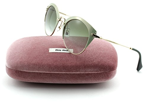 056130e57906 Miu Miu MU 53RS Women Round Metal Sunglasses (Green-Pale Gold Frame, Grey  Gradient Lens UR3/9T1) - Buy Online in UAE. | miu miu Products in the UAE -  See ...