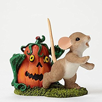 Charming Tails Halloween (Enesco Halloween Charming Tails Pumpkin Zombie Figurine,)