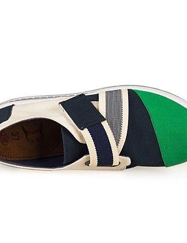 ginnastica lavoro Verde Scarpe culla da Plateau Zeppa Donna Casual Ufficio ShangYi Blu Green Scarpette corda Rosso e Scarpe Di da Pxd61qfT