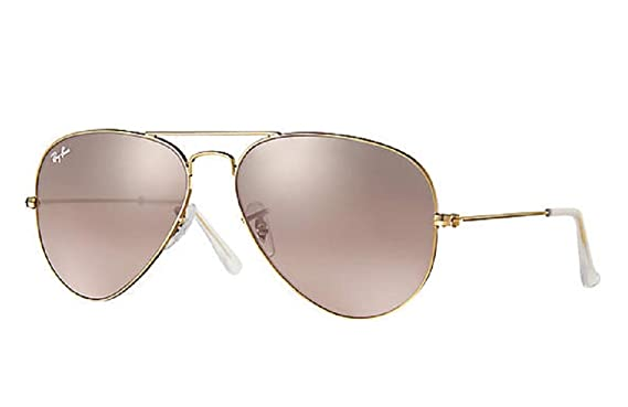 36669a3d8 Image Unavailable. Image not available for. Color: Ray-Ban Aviator Gold  Frame w/ Pink Silver Mirror RB 3025 001/3E