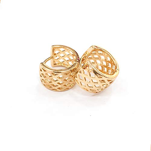 Orisignall European American Fashion Accessories SD Earrings Sparkle 18K Gold Hoop Jewelry Gifts for Women and Girls