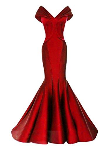 Chupeng Mancherons Col V Femmes Élégantes Robes De Soirée De Bal Sirène Rouge