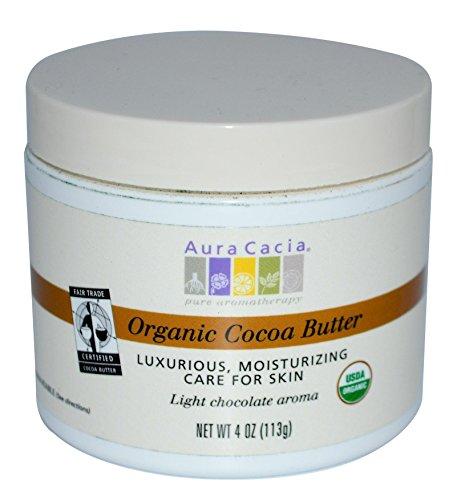 Aura Cacia Natural Cocoa Butter, 4 Ounce  (113 -