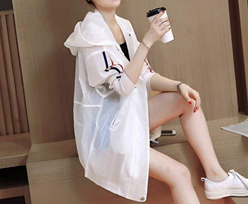 Prodotto Bianca Outwear Lunga Casuali Windbreaker Marca Plus Coat Giacca Con Primaverile Fashion Di Bolawoo Sciolto Manica Donna Autunno Mode Mantello Cappuccio Eleganti 1Iqqwza0