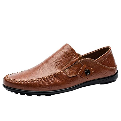 2 brown Casual Hombres Zanpa Mocasines wqxR0tI8x
