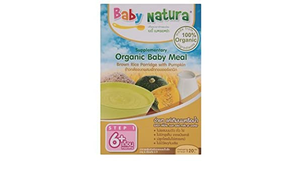9263d2eb5cdc23  JCh  Baby Natura   Organic Baby Meal Brown Rice Porridge with Pumpkin 120g  (3 Packs)  Amazon.com  Grocery   Gourmet Food