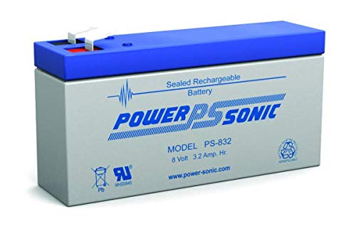 (Lead Acid Battery Rectangular 8V 3.2Ah Rechargeable (PS-832))
