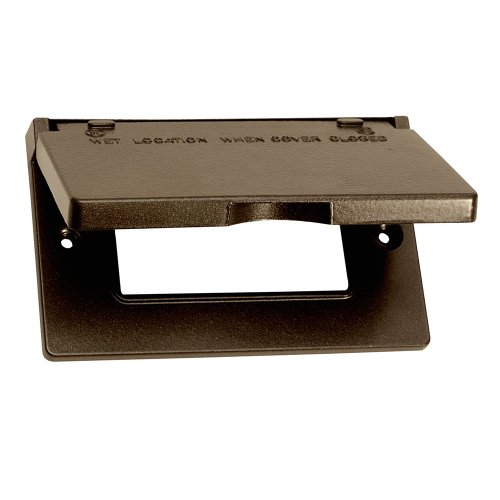 Sigma Electric 14249BR 1-Gang Horizontal GFCI Cover, Bronze