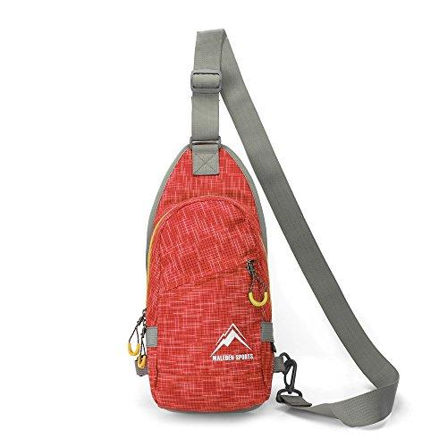 Shoulder Bag, MALEDEN Lightweight Outdoor Sling Backpack Unbalance Crossbody Bag for Girls Boys Women Men Travel Sports Pack