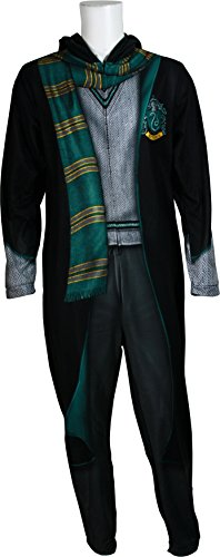 Harry Potter Men's Slytherin Uniform Union Suit, Sly Black, L - Slytherin Quidditch Uniform