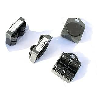 4x Ruedas para mueble, hasta 150 kg, para el transporte de muebles o armarios, resistentes a los arañazos, ruedas de transporte