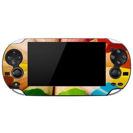 Price comparison product image Artists Colorful Rainbow Pencils Playstation Vita Vinyl Decal Sticker Skin