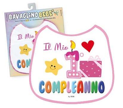 Babero bebe-Mi primer cumpleaños unica rosa: Amazon.es: Hogar