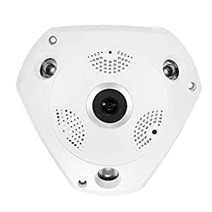 OWSOO Cámara de Vigilancia Panorámica 3MP 4G IR-Cut Visión Nocturna 3G gsm Cámara de Vigilancia IP Exterior con Ranura para Tarjeta SIM & Ranura para ...