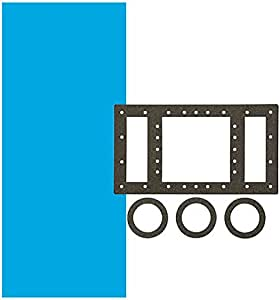 Smartline Solid Blue 15-Foot-by-30-Foot Oval Overlap Liner | 48-or-52-Inch Wall Height | 25 Gauge | Designed for Steel Sided Above-Ground Swimming Pools | Universal Gasket Kit Included