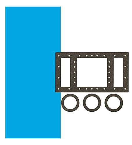 Smartline 24-Foot Round Solid Blue Liner | Overlap Style | 48-to-52-Inch Wall Height | 30 Gauge Virgin Vinyl | Designed for Steel Sided Above-Ground Swimming Pools | Universal Gasket Kit - Doughboy Liners Pool