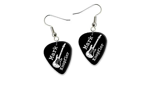 Mark Knopfler Dire Straits Diseño 2 Guitarra Plectrum Pendientes ...