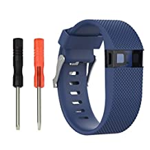 Fitbit Charge HR Watch Band,Efitty Silicone Replacement Watch Band ONLY for Fitbit Charge HR (Blue-Small)