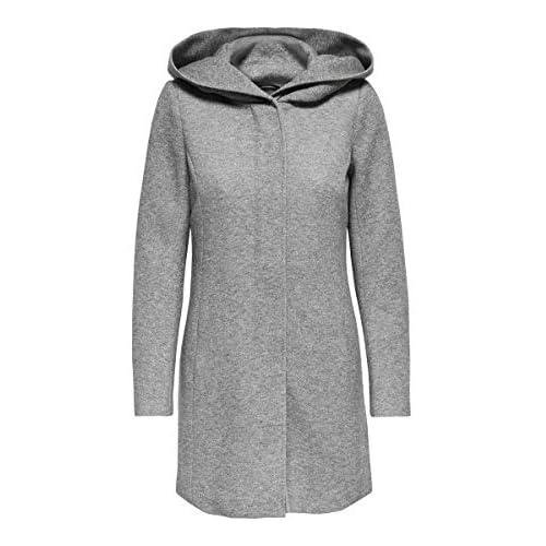 chollos oferta descuentos barato Only onlSEDONA Coat OTW Noos Abrigo Gris Light Grey Melange 40 Talla del Fabricante Large para Mujer
