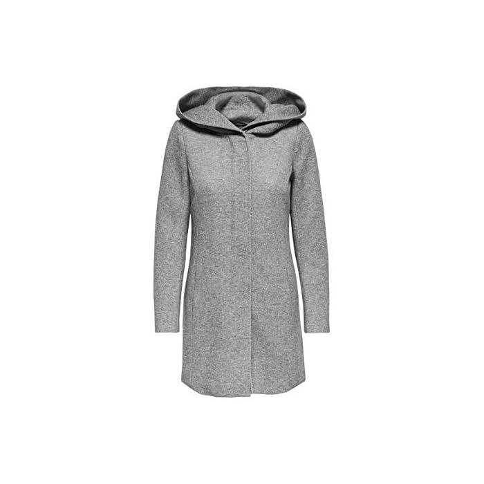 41mtKWsYCuL Abrigo de lana con capucha. Abrigo largo de entretiempo. 85% Poliéster, 15% Algodón